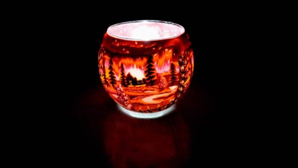 Souvenir Porta candele in vetro